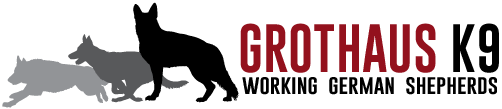 Grothaus K9 Working German Shepherds Logo